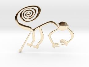 Nazca: The Monkey in 14K Yellow Gold