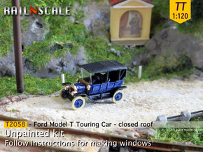 Ford Model T - closed roof (TT 1:120) in Smooth Fine Detail Plastic