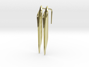 YOUNIVERSAL Straight,  Earrings in 18k Gold Plated Brass