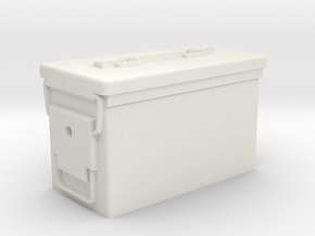 DSPRO .50 CAL Ammo Can in White Natural Versatile Plastic