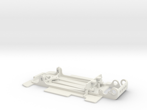 Slot car chassis for 962 CKH 1/28 in White Natural Versatile Plastic