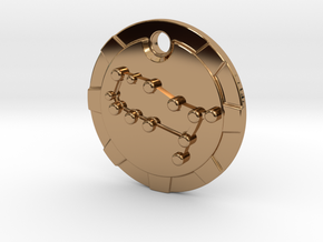 Gemini Pendant in Polished Brass