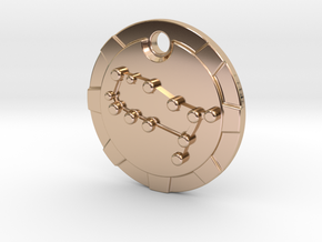 Gemini Pendant in 14k Rose Gold Plated