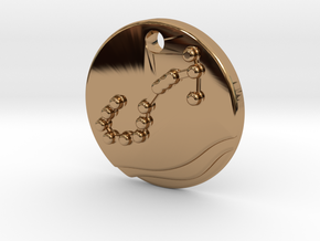 Scorpio Pendant in Polished Brass