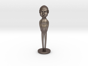 Figure in Polished Bronzed Silver Steel