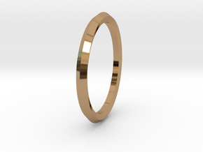 Penta Ring - An unconventional Wedding Ring in Polished Brass: Medium