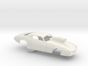 1/25 Pro Mod Camaro Cowl Hood W Scoop in White Natural Versatile Plastic