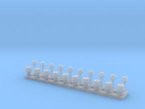 Standardblaulicht-mit  Chromring + Untersockel in Smooth Fine Detail Plastic
