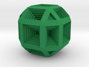 Hypno Cube in Green Strong & Flexible Polished