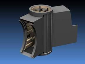 Turret Tube Hall Replacement HD for DeAgo Falcon in Smooth Fine Detail Plastic