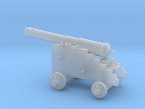 18th Century 6# Cannon-Naval Carriage 1/24 in Smooth Fine Detail Plastic