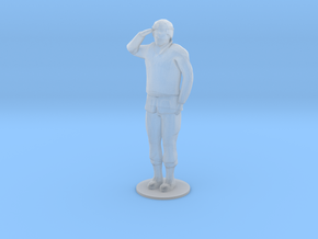 Male Soldier Salute (1/48) in Smooth Fine Detail Plastic