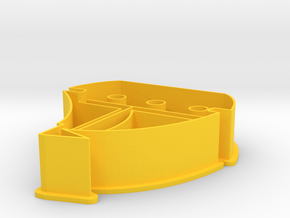 Sailingboat cookie cutter in Yellow Processed Versatile Plastic