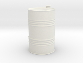 oil drum 1/35 in White Natural Versatile Plastic