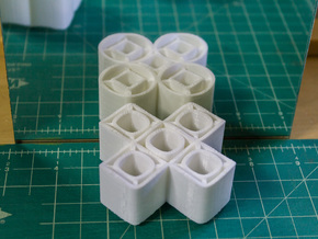 Ambiguous Cylinders : Concentrics in White Natural Versatile Plastic