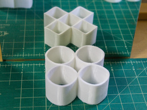 Ambiguous Cylinders : Four Rings in White Strong & Flexible
