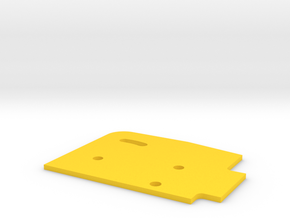 Sideplate Left 1mm in Yellow Processed Versatile Plastic