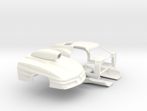 1/32 1963 Pro Mod Corvette Sep Door And Hood in White Processed Versatile Plastic