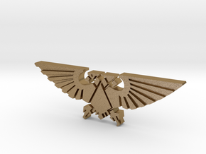 Double-headed Eagle token in Polished Gold Steel