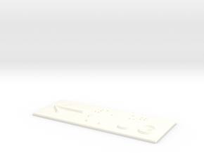 1.UG mit Pfeil nach links in White Processed Versatile Plastic
