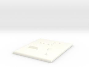 -1 (Minus eins) in White Processed Versatile Plastic