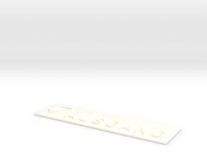 AUSGANG mit Pfeil nach links und nach unten in White Processed Versatile Plastic