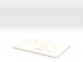 E0 mit Pfeil nach oben in White Processed Versatile Plastic