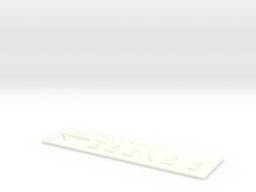 EBENE 3 mit Pfeil nach links in White Processed Versatile Plastic