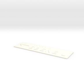 EBENE U mit Pfeil nach links in White Processed Versatile Plastic