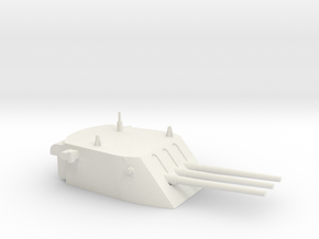1/96 scale CL/CLG 6 Inch 47 Cal Triple Turret  in White Natural Versatile Plastic