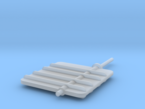 Main Rudder 1-32V2 in Smooth Fine Detail Plastic