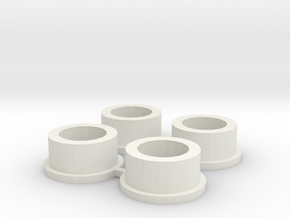 Microcentrifuge tube adapter in White Strong & Flexible
