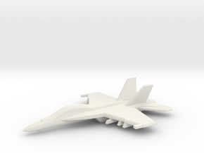 1/350 F/A-18F Super Hornet in White Natural Versatile Plastic