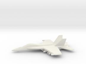 1/350 F/A-18E Super Hornet in White Natural Versatile Plastic