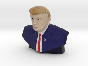 The Donald Trump Statue - Small & Color in Full Color Sandstone