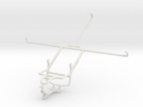 Controller mount for PS4 & Asus Memo Pad 10 ME103K in White Natural Versatile Plastic