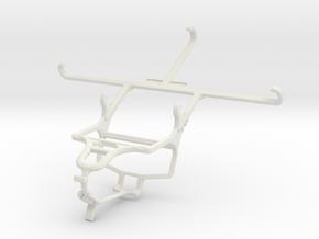 Controller mount for PS4 & BLU Studio 6.0 HD in White Natural Versatile Plastic