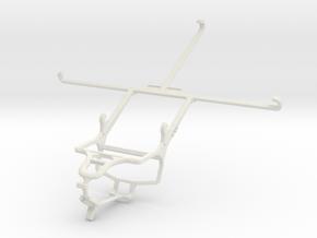 Controller mount for PS4 & Asus ZenPad S 8.0 Z580C in White Natural Versatile Plastic