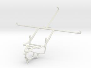 Controller mount for PS4 & HTC Nexus 9 in White Natural Versatile Plastic