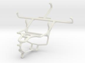 Controller mount for PS4 & LG L Bello in White Natural Versatile Plastic