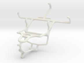 Controller mount for PS4 & Motorola Moto E (2015) in White Natural Versatile Plastic