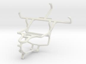 Controller mount for PS4 & Motorola Moto E Dual SI in White Natural Versatile Plastic