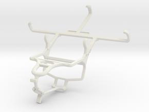 Controller mount for PS4 & Motorola Moto G (2014) in White Natural Versatile Plastic