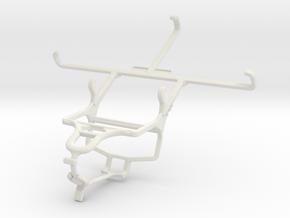 Controller mount for PS4 & Motorola Nexus 6 in White Natural Versatile Plastic