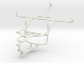 Controller mount for PS4 & Panasonic Eluga S in White Natural Versatile Plastic