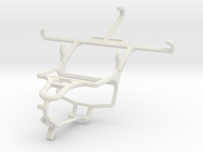 Controller mount for PS4 & Samsung Galaxy A3 in White Natural Versatile Plastic