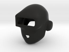 Daft Punk Mask (Smooth) in Black Natural Versatile Plastic