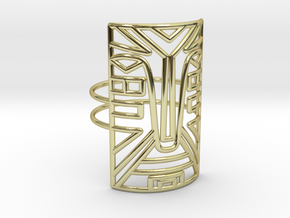 Warrior Large Size 7  in 18k Gold Plated Brass