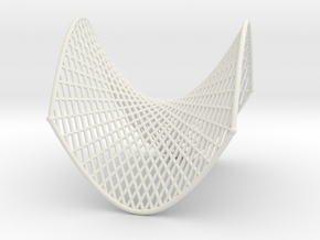 Hyperbolic Paraboloid Ruled Thin in White Natural Versatile Plastic