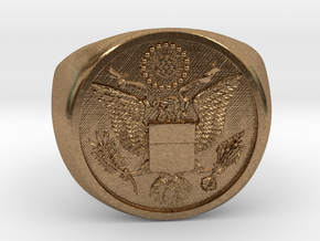 Great Seal of the US in Natural Brass